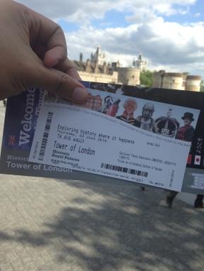 Tiket masuk Tower of London
